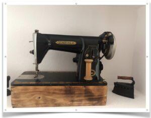 Máquina de coser Hexagon antigua