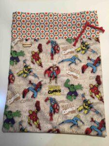 Bolsa merienda superheroes marvel