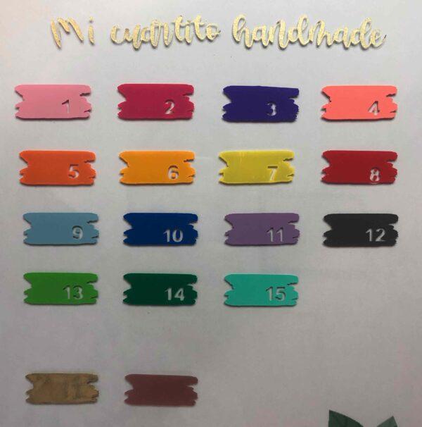 Tabla colores vinilos