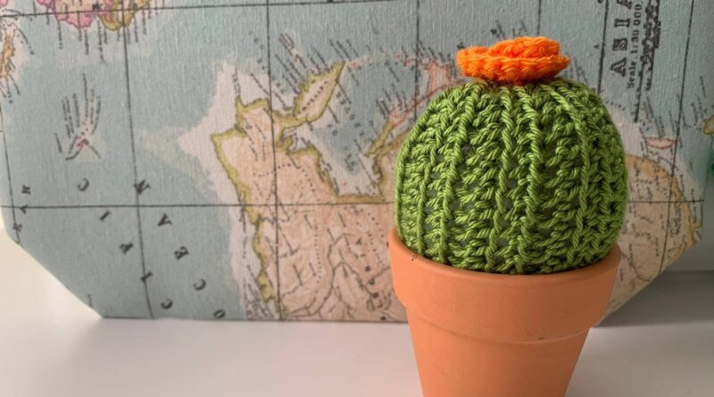 mini cactus de ganchillo