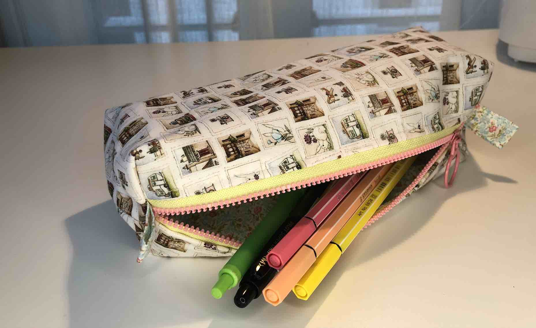 Estuche de tela para lápices DIY