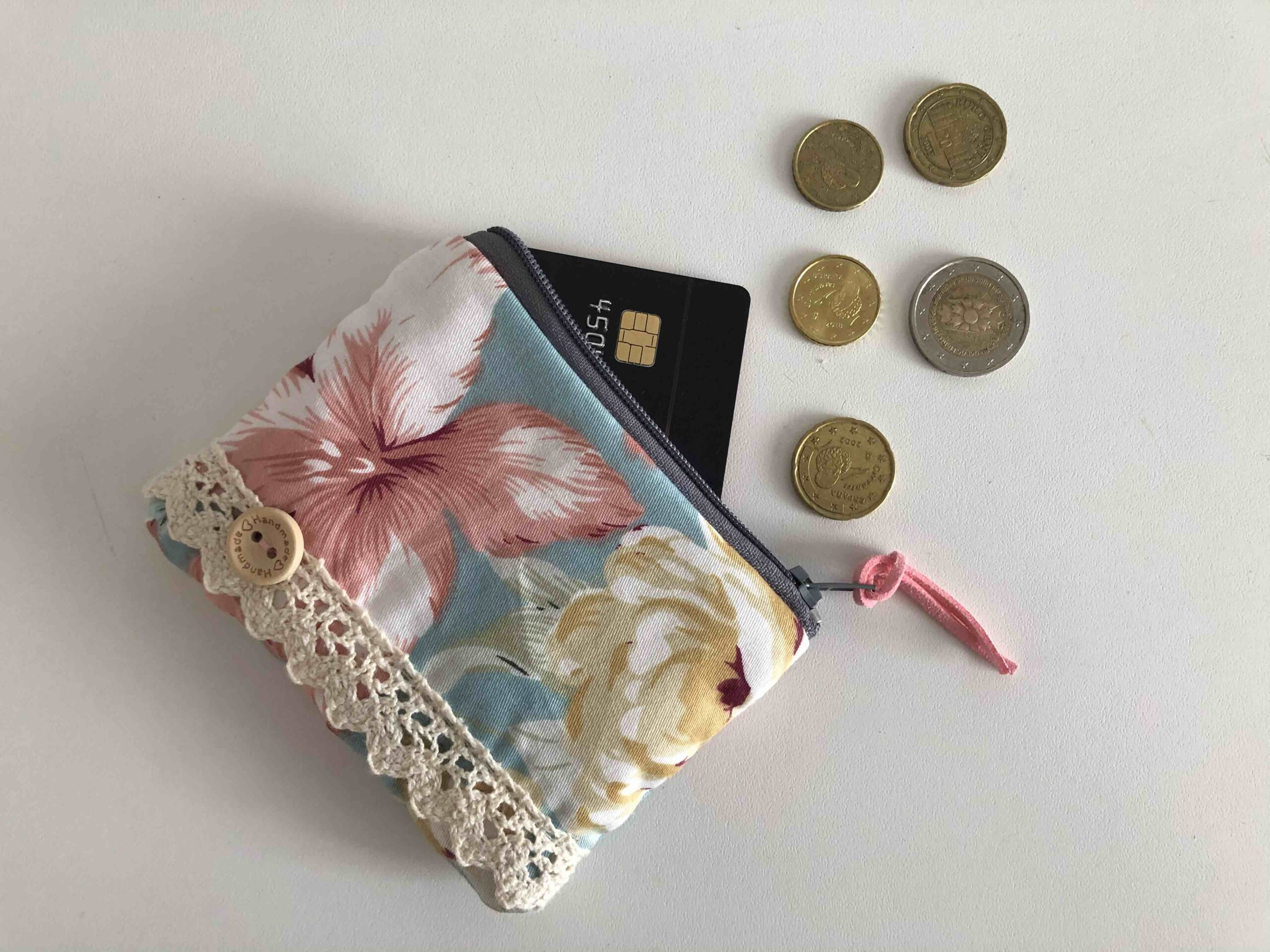 Monedero de Tela  con Cremallera DIY